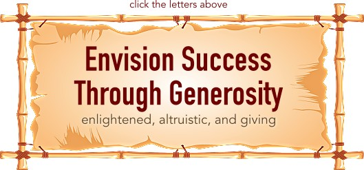 Envision Success Through Generosity