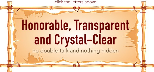 Honorable, Transparent and Crystal-Clear