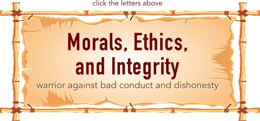 Morals, Ethics, and Integrity