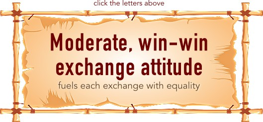 Moderate, win-win exchange attitude
