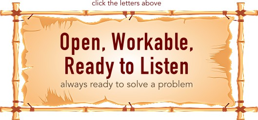 Open, Workable, Ready to Listen