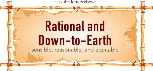 Rational and Down-to-Earth