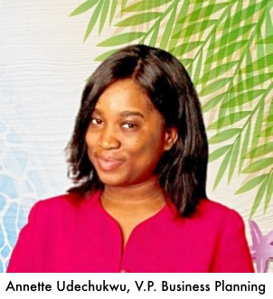 V.P. Business Planning, Annette Udechukwu